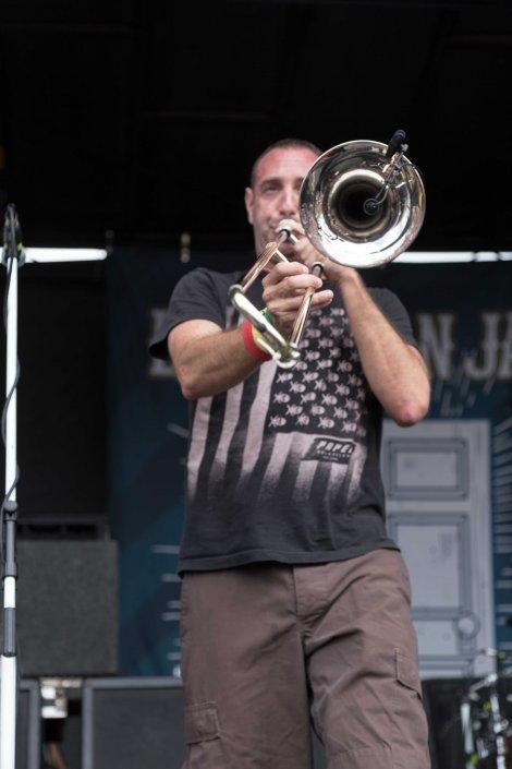 Less Than Jake preforming at Vans Warped Tour 2014 in St. Louis, Mo.