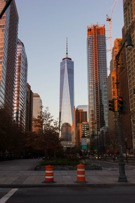 One World Trade Center at sunset
