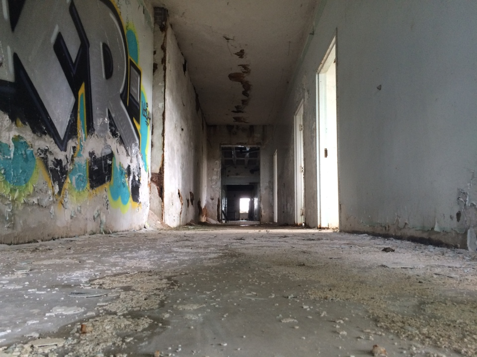 Inside an abandoned hospital in Cairo, IL,