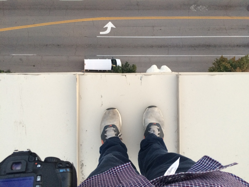 Me standing over Washington Avenue in St. Louis, MO.