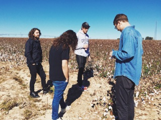 Choir Vandals in a field in Georgia on their southeast US tour. (Iphone)